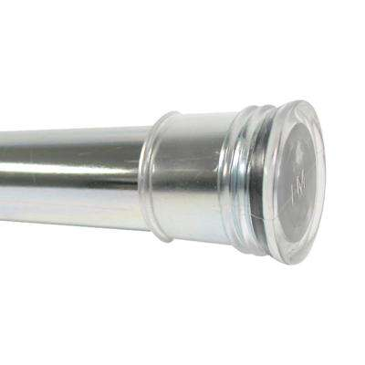 44 in. - 72 in. Aluminum Adjustable Tension Shower Rod in Chrome