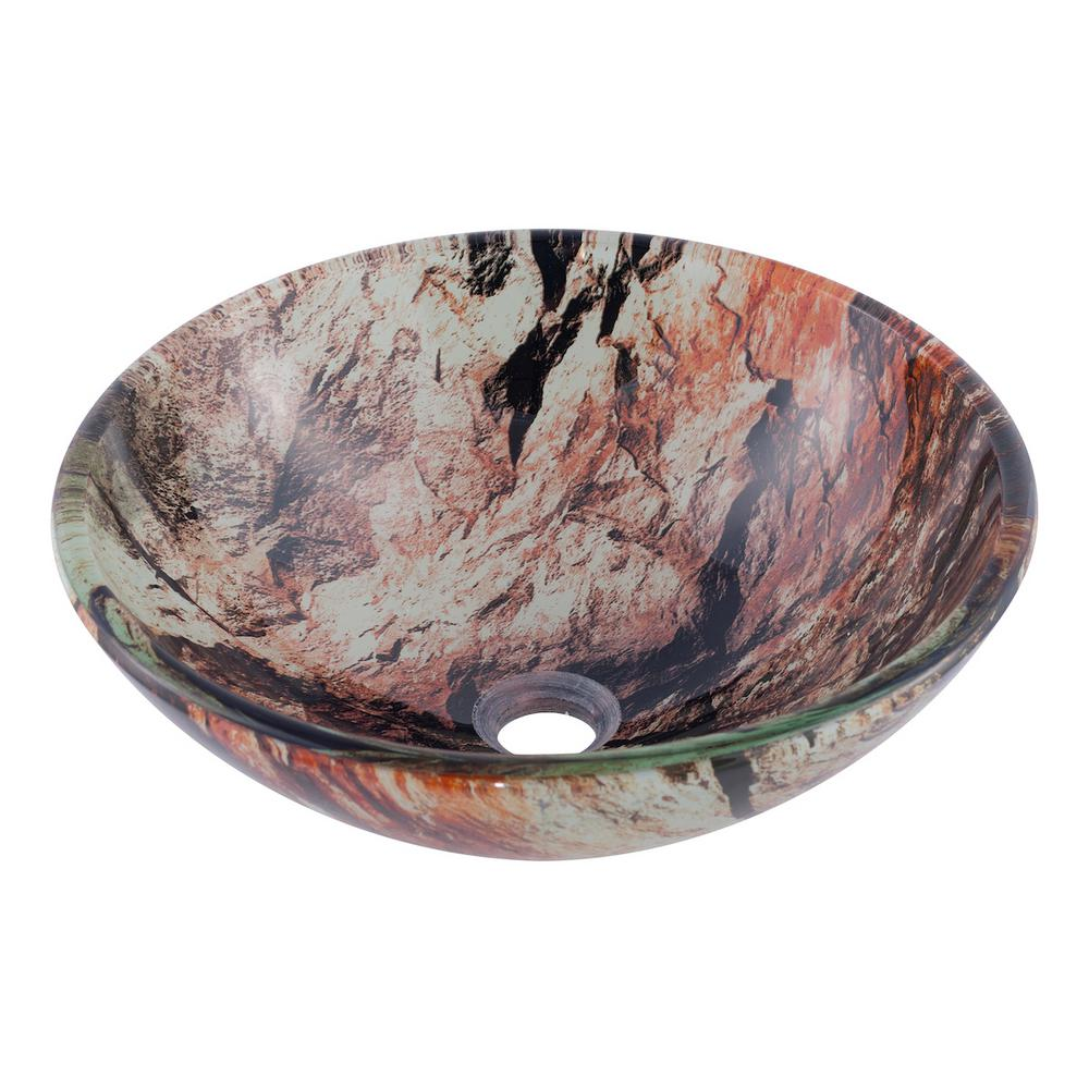Cullare Glass Vessel Sink in Multicolor