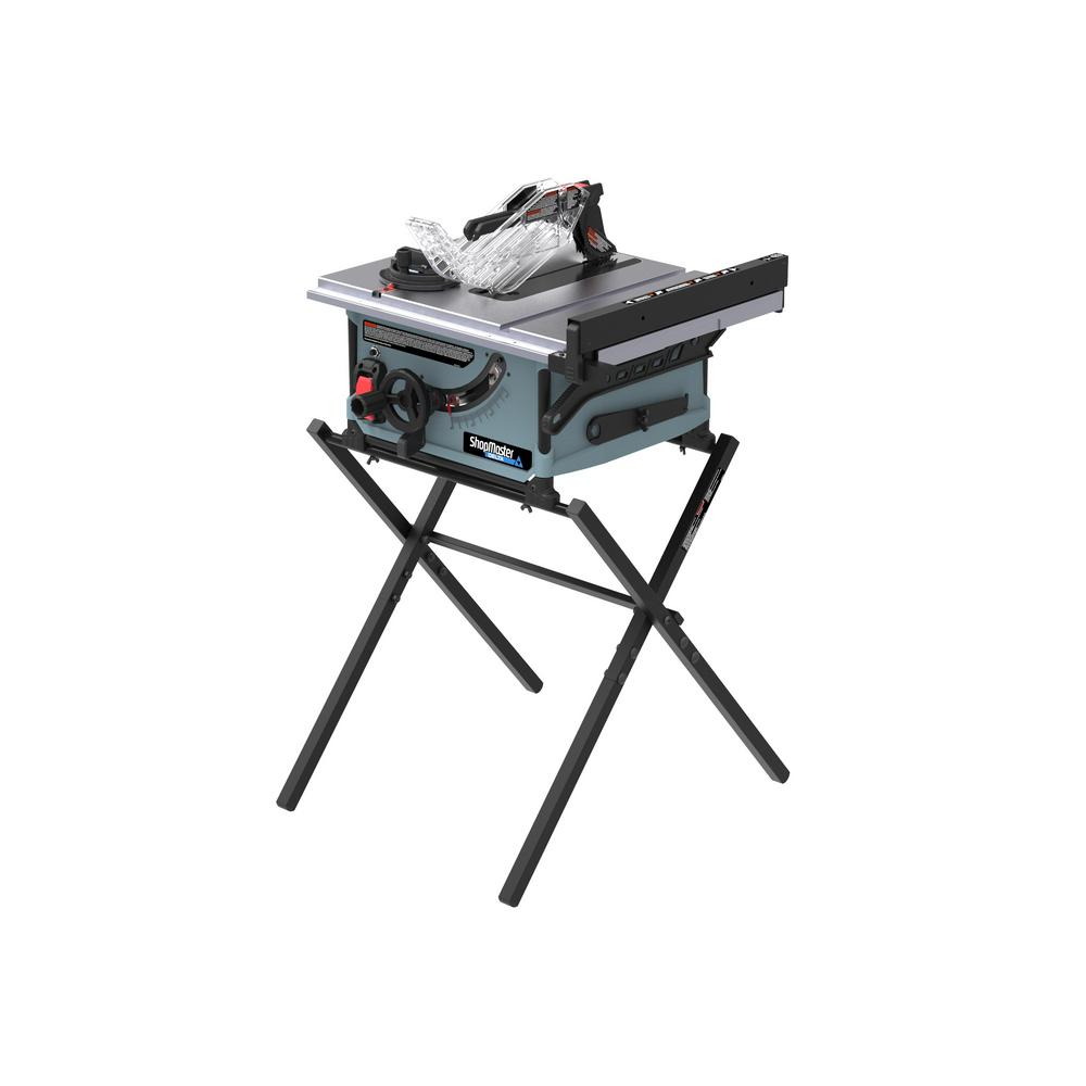 Delta Shopmaster 10 In 15 Amp Table Saw With Stands S36 290 The Home Depot