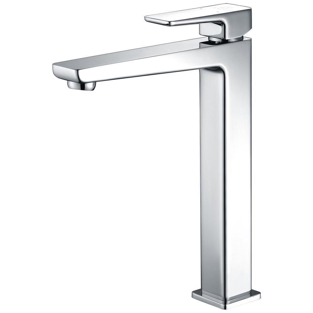 Valor Single Hole Single-Handle Bathroom Faucet in Polished Chrome