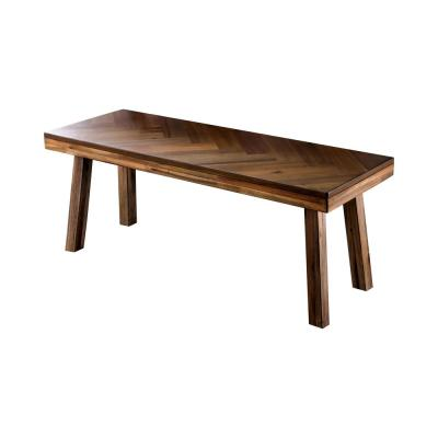 Pauletta Light Oak Angled Legs Dining Bench