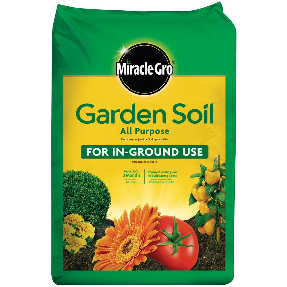 Miracle Gro Miracle Gro Garden Soil All Purpose For In Ground Use 1 Cu Ft 70551430 The Home Depot