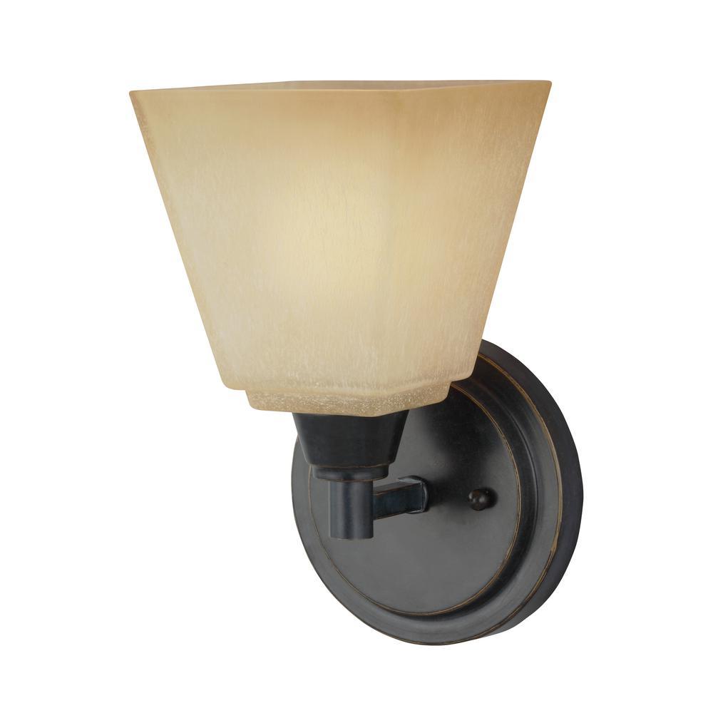 Parkfield 1-Light Flemish Bronze Sconce with LED Bulb