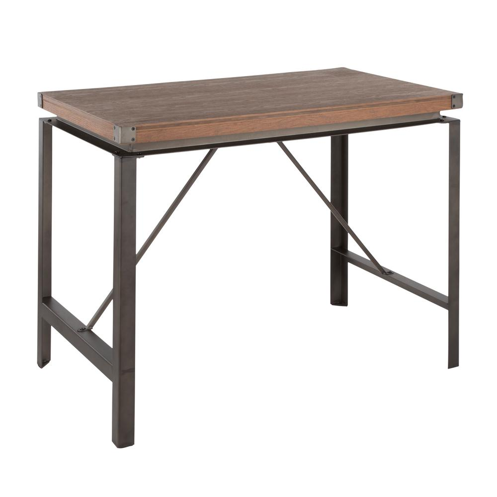 Arbor Antique and Brown Counter Height Dining Table
