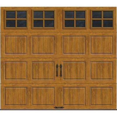 Gallery Collection 8 ft. x 7 ft. 18.4 R-Value Intellicore Insulated Ultra-Grain Medium Garage Door with SQ22 Window