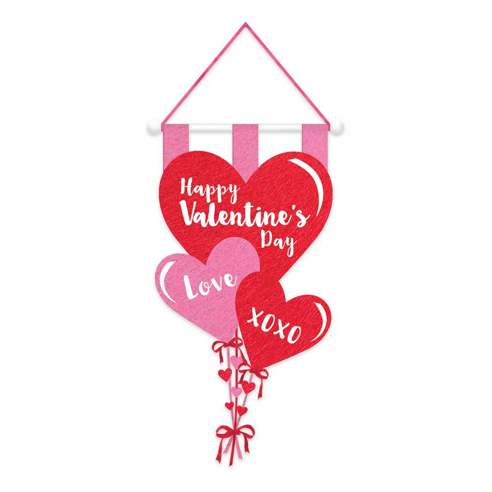 amscan 23 5 in valentine s day banner 3 pack 241637 the home depot