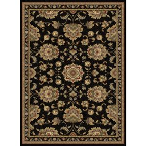 tayse rugs sensation black 11 ft x 15 ft traditional area rug sns4853 11x15 the home depot. Black Bedroom Furniture Sets. Home Design Ideas