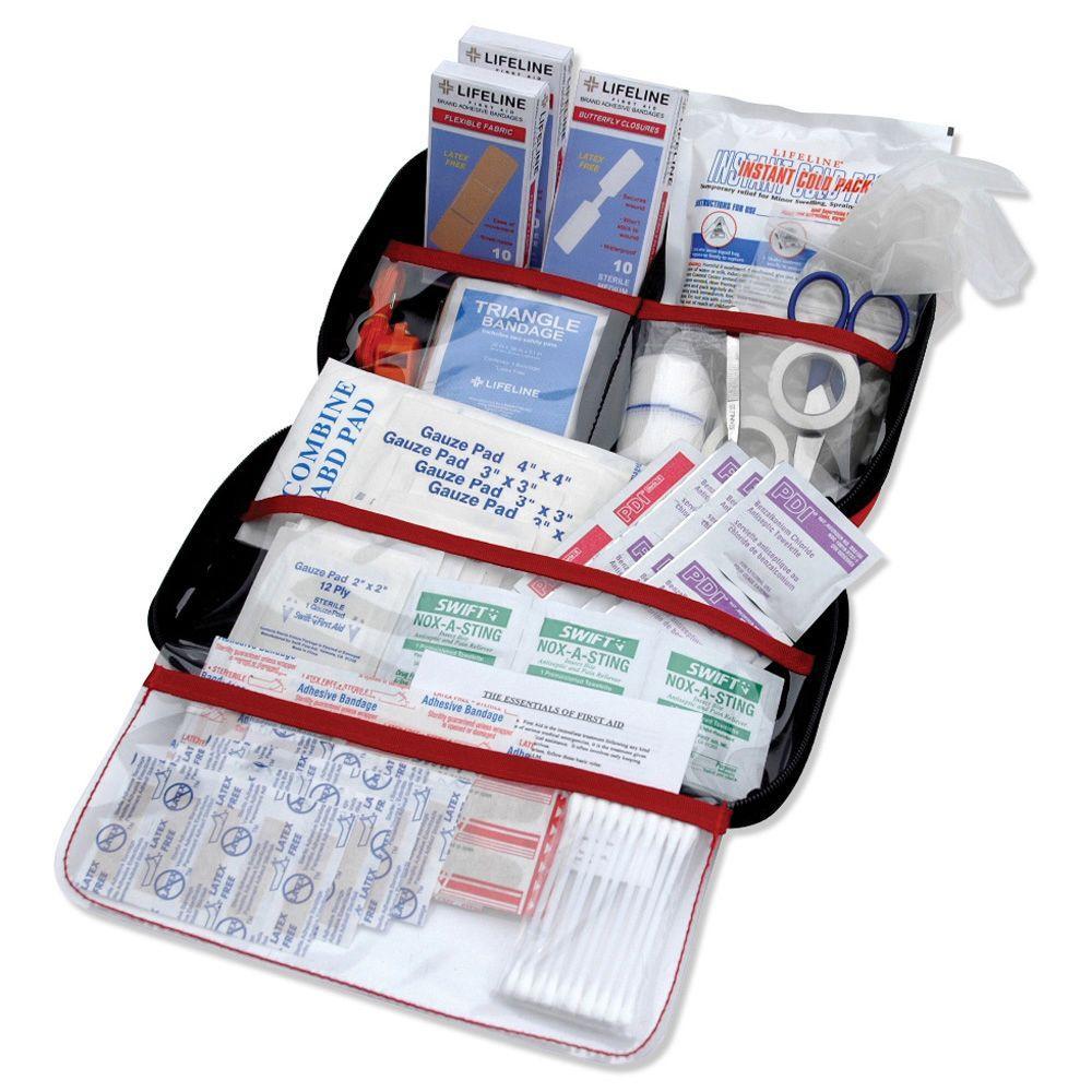 Emergency Road Trip First Aid Kit 121-Piece