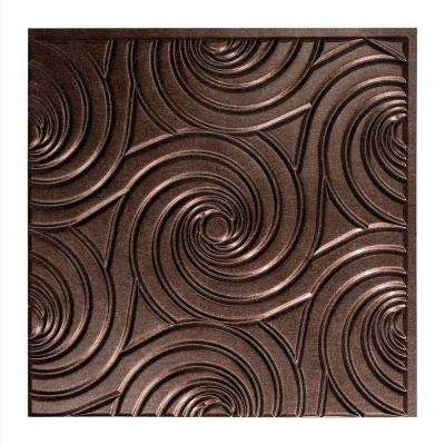 Typhoon - 2 ft. x 2 ft. Glue-up Ceiling Tile in Smoked Pewter