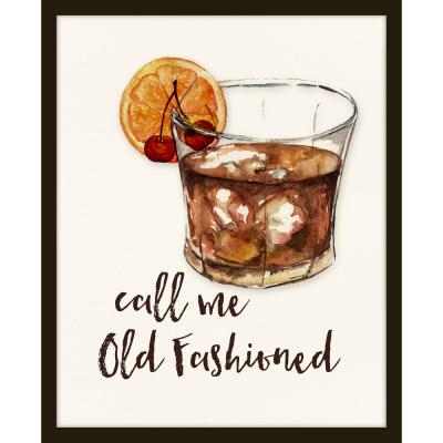 """22 in. x 26 in. """"Call Me Old Fashioned"""" Framed Giclee Print Wall Art"""