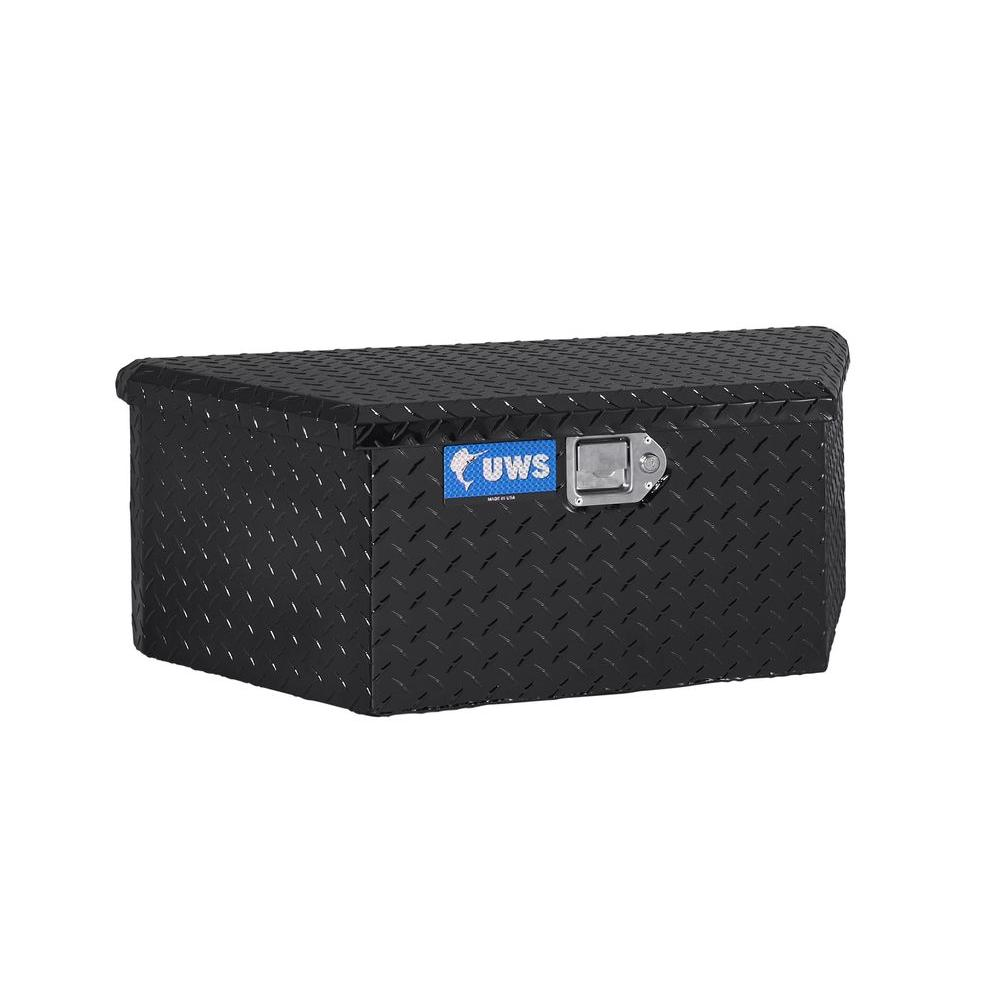 UWS TBV-34-BLK Black 34 Trailer Box with Beveled Insulated Lid