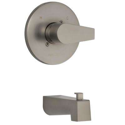 Xander 1-Handle Wall Mount Tub Trim Kit in Brushed Nickel (Valve Not Included)