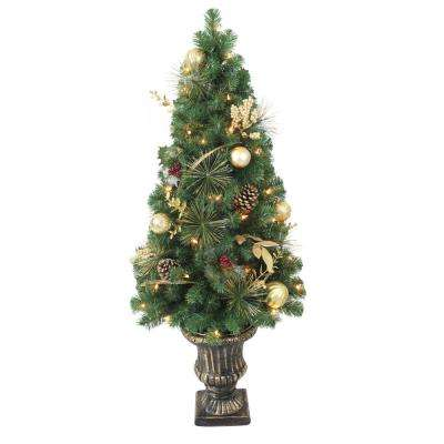 Laurel Villa A8 4 ft. Prelit Gold Porch Tree Twigs