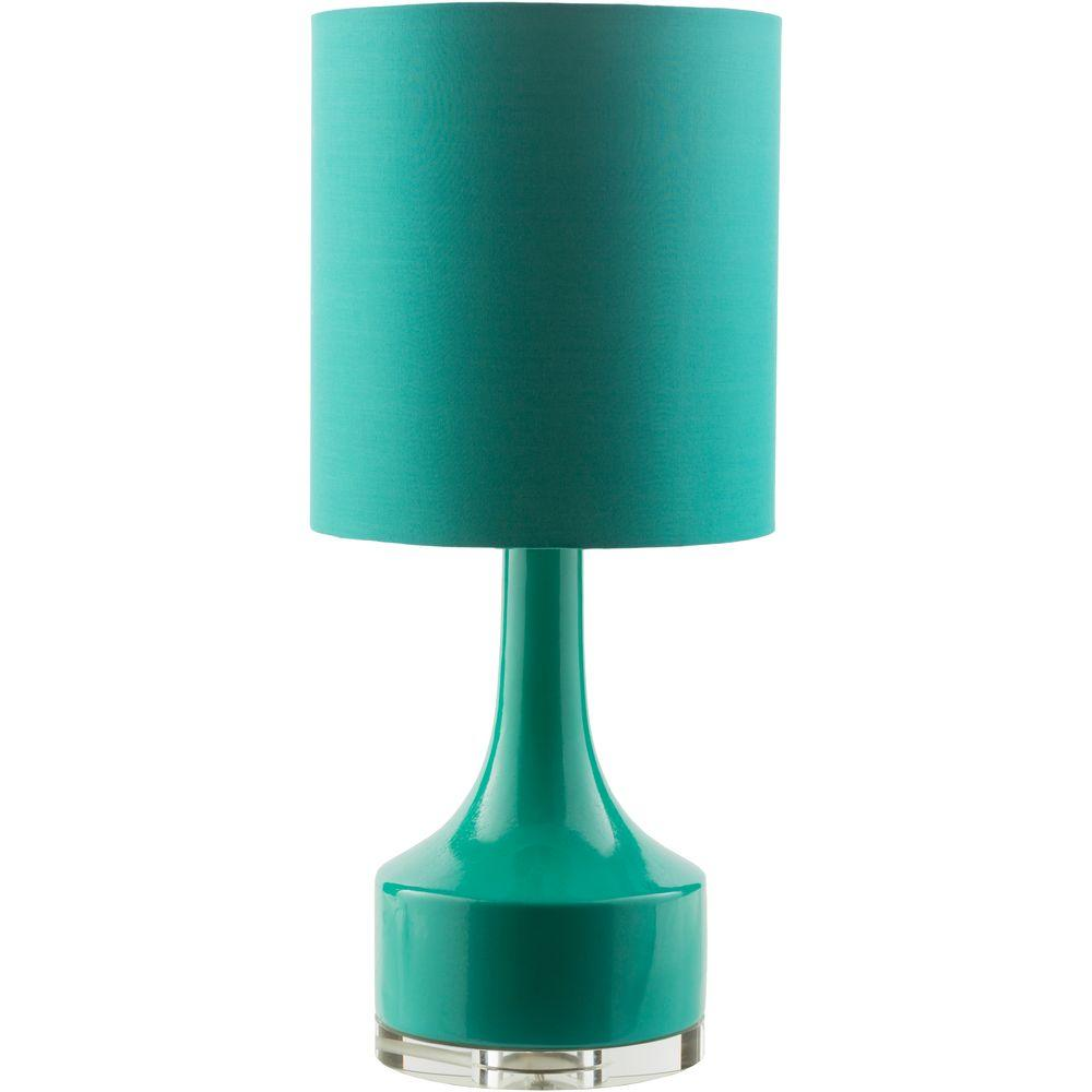 Cailliau 24.5 in. Green Indoor Table Lamp