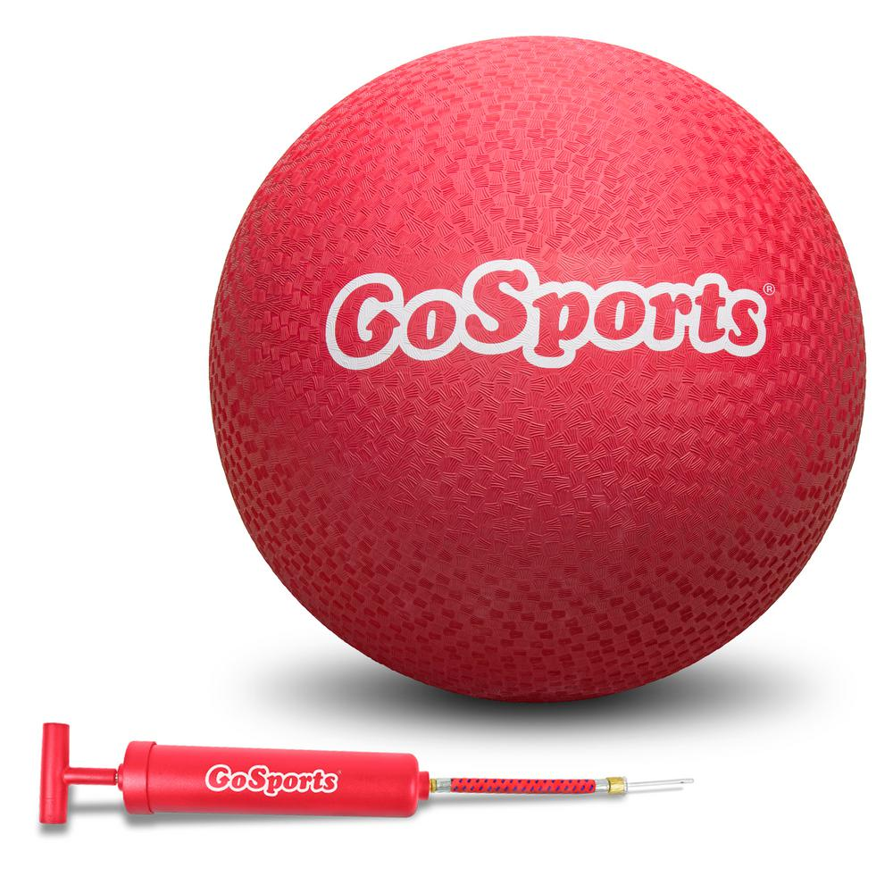 67b5cf57e GoFloats Giant 16 in. Rubber Playground Ball with Red Pump-PB-16-1 ...