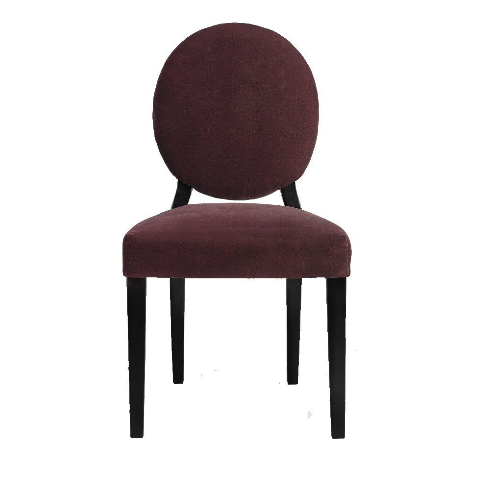 Home Decorators Collection Hammond 37 in. H Plum Moleskin Side Chair