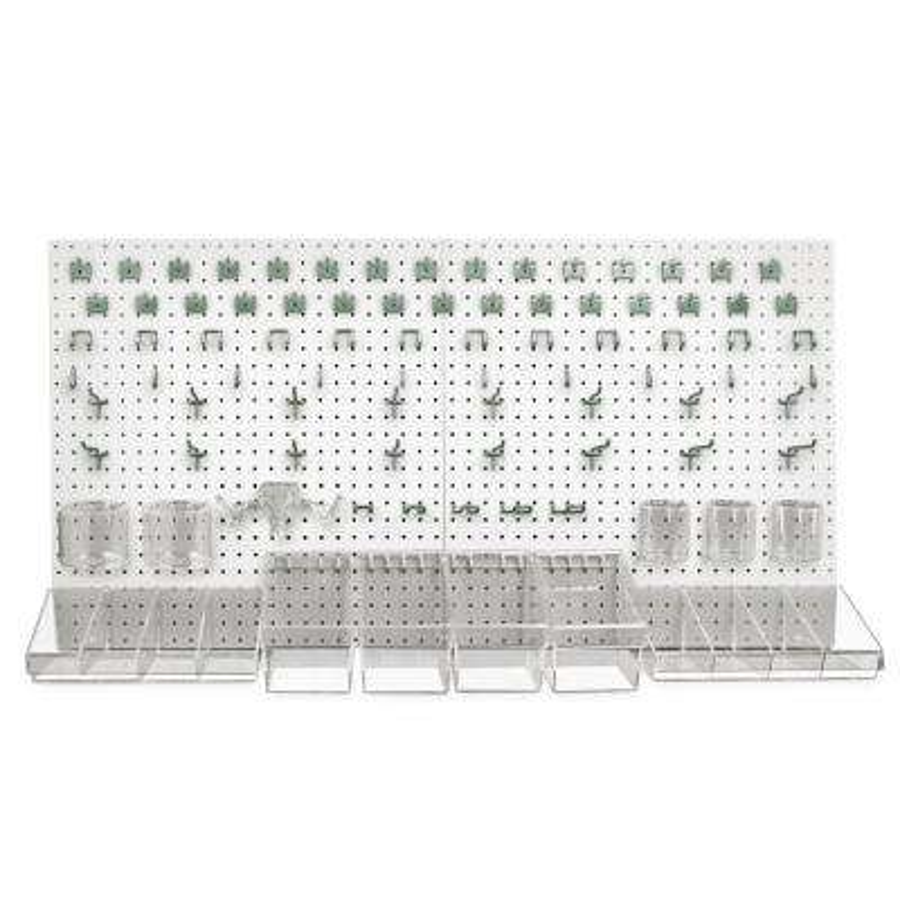 24 in. H x 48 in. W High Density Fiberboard Pegboard Kit (125-Pieces)