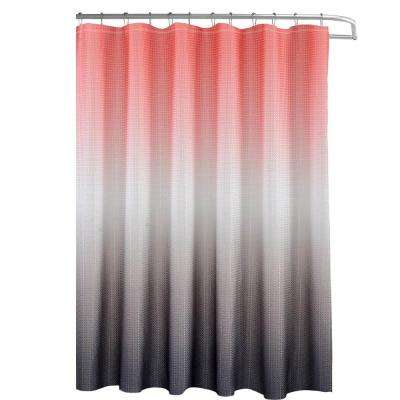 L Shower Curtain With Beaded