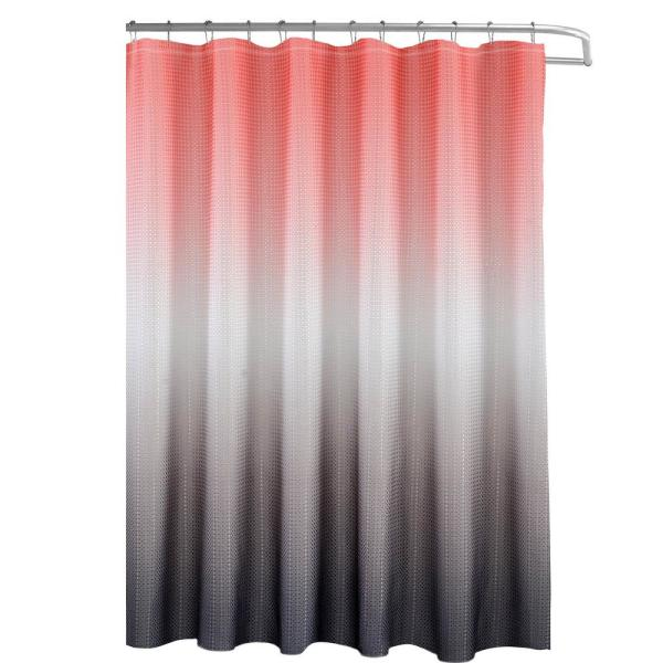 Creative Home Ideas Ombre Waffle Weave 70 in. W x 72