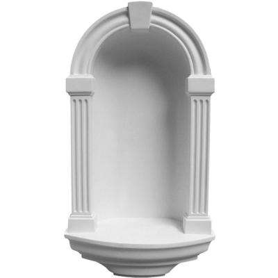 8-1/4 in. x 16-3/8 in. x 30 in. Primed Polyurethane Recessed Mount Alexandria Wall Niche