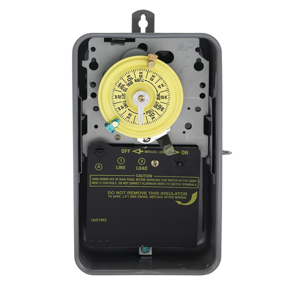 intermatic t101r series 40 amp 125-volt 24-hour spst mechanical time switch  with