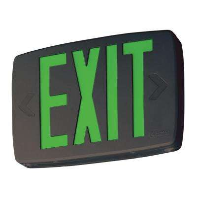 Quantum Black Thermoplastic LED Emergency Exit Sign with Battery Backup