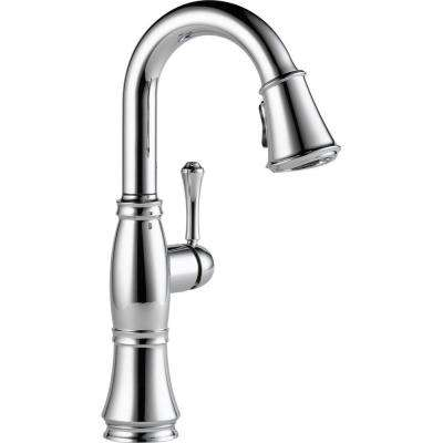 Cassidy Single-Handle Bar Faucet with Pull-Down Sprayer in Chrome