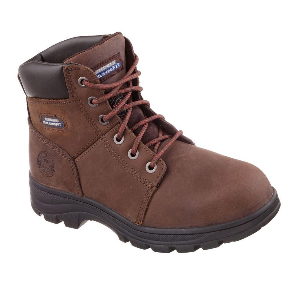 Workshire Men Size 8.5 Dark Brown Leather Work Boot