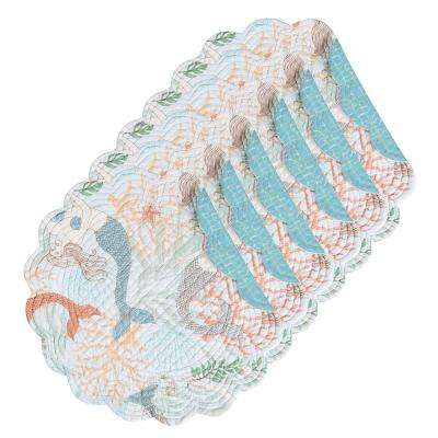 Dancing Waters Round Aqua Placemat (Set of 6)