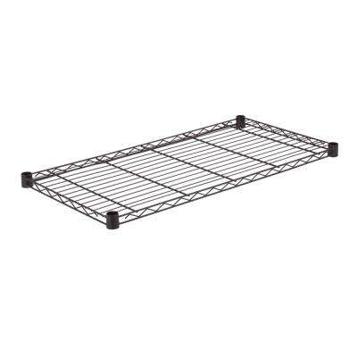 36 in. W x 18 in. D 350 lbs. Steel Shelf in Black