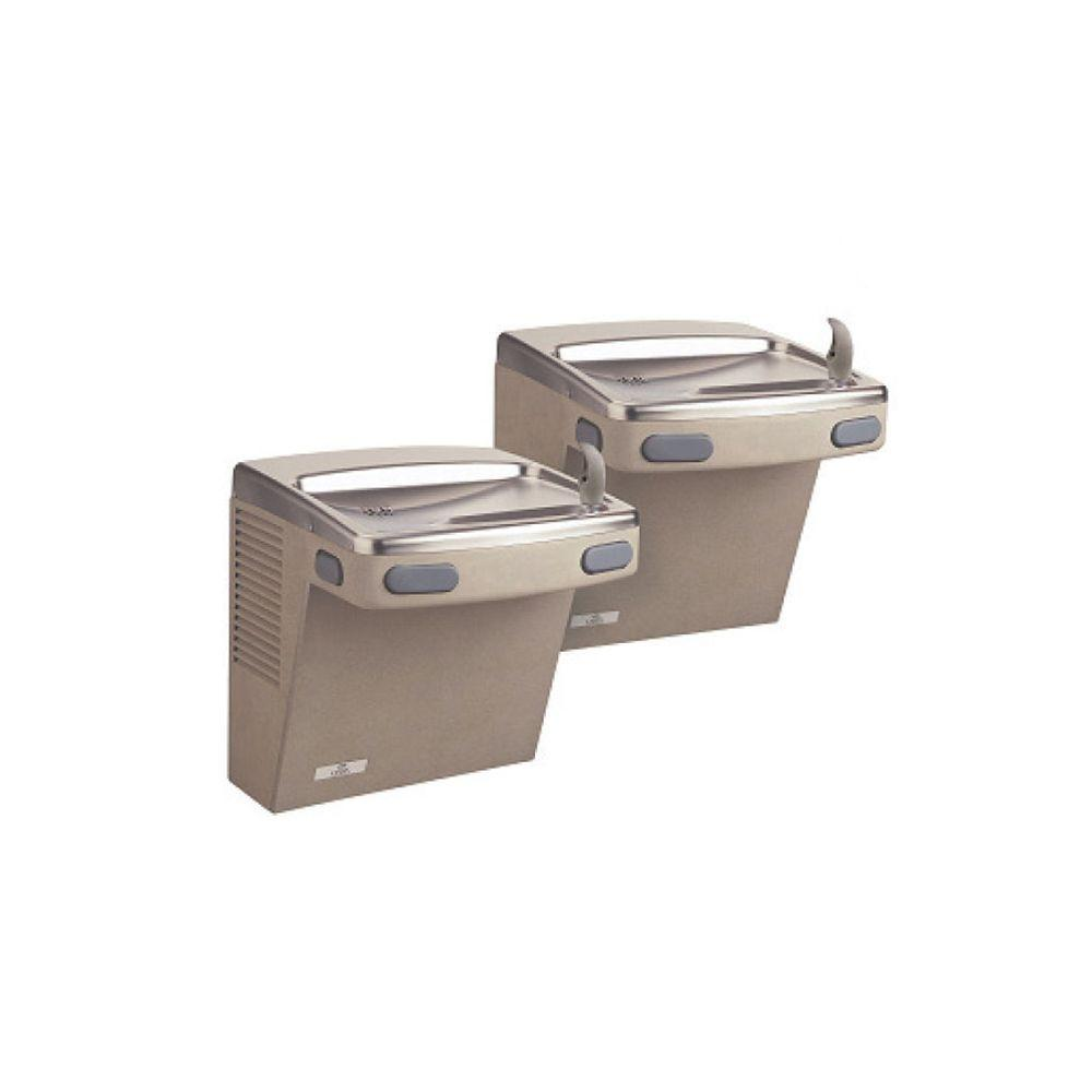 Oasis Barrier-Free Versacooler II Push-Button Refrigerated Drinking Fountain Faucet in Sandstone powder finish