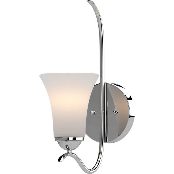 Alesia 5.25 in. Polished Nickel Sconce