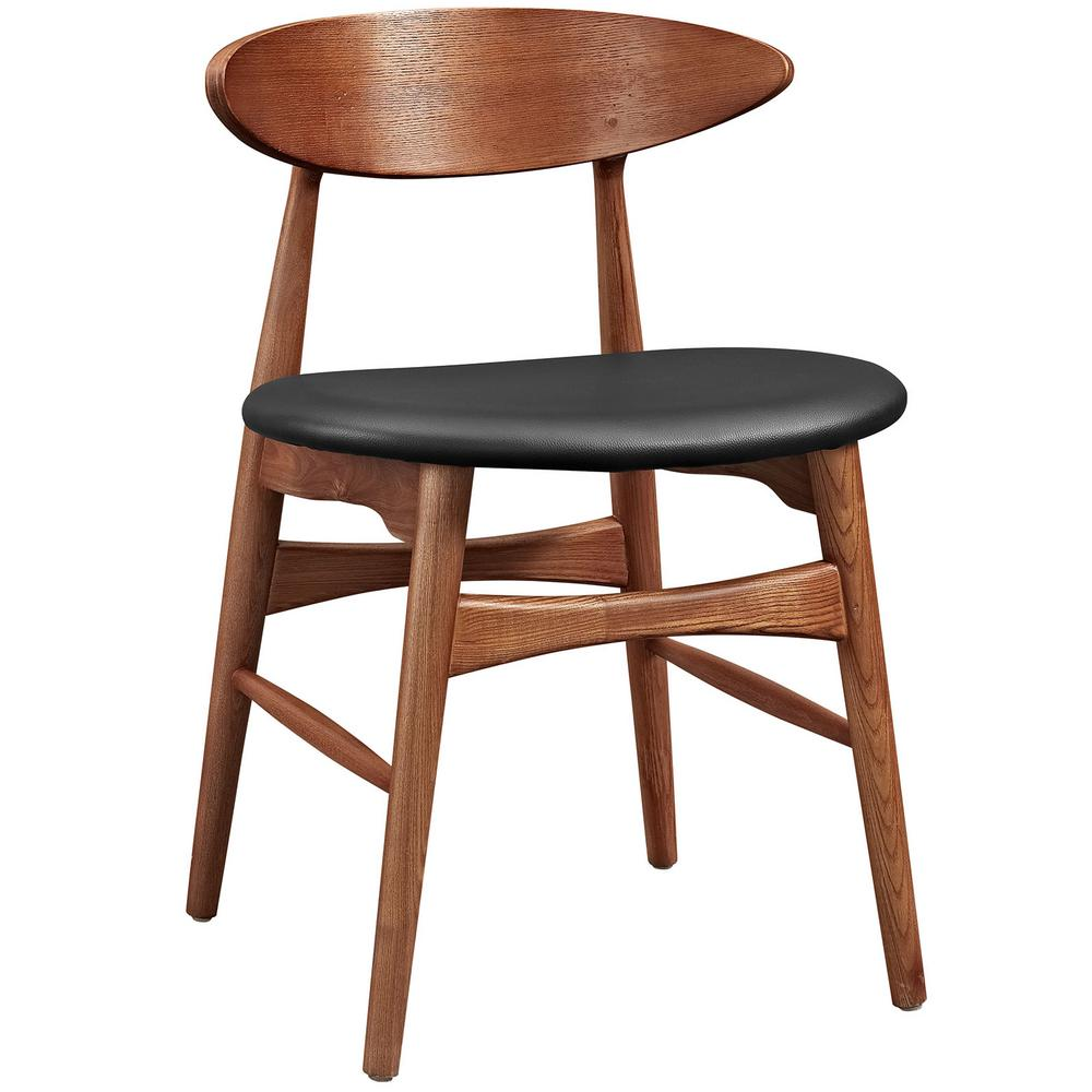 Modway Ernie Wood Bar Stool in Natural Price Tracking : walnut black modway dining chairs eei 2280 wal blk 641000 from www.rout.com size 1000 x 1000 jpeg 69kB