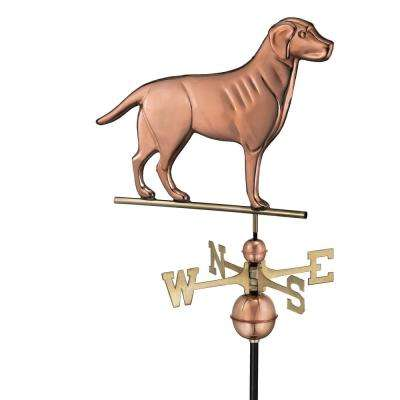 Labrador Retriever Weathervane - Pure Copper