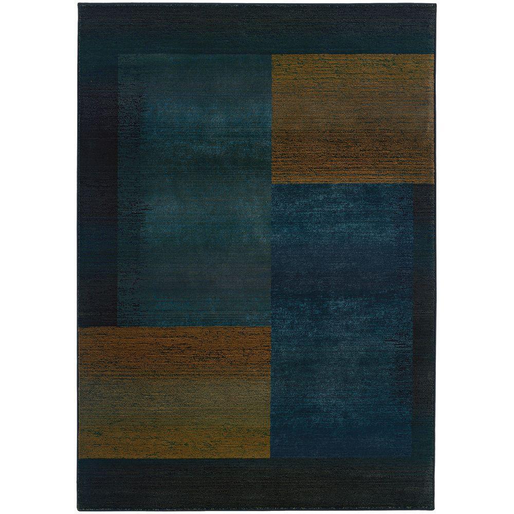 Shadowplay Blue 8 ft. x 11 ft. Area Rug