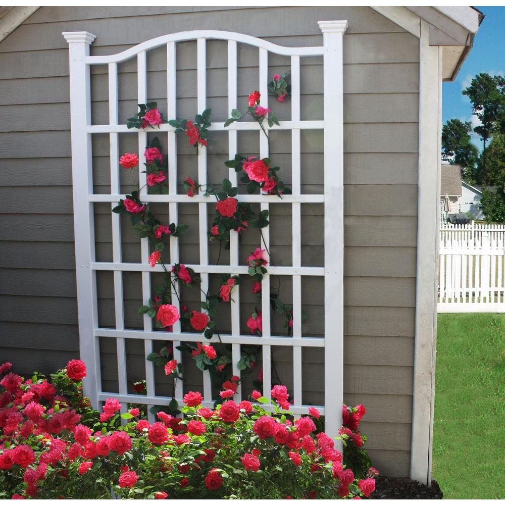 New England Arbors Trellises Outdoor Decor The Home Depot