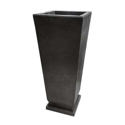 Empire 14 in. x 31.5 in. Slate Rubber Self-Watering Planter