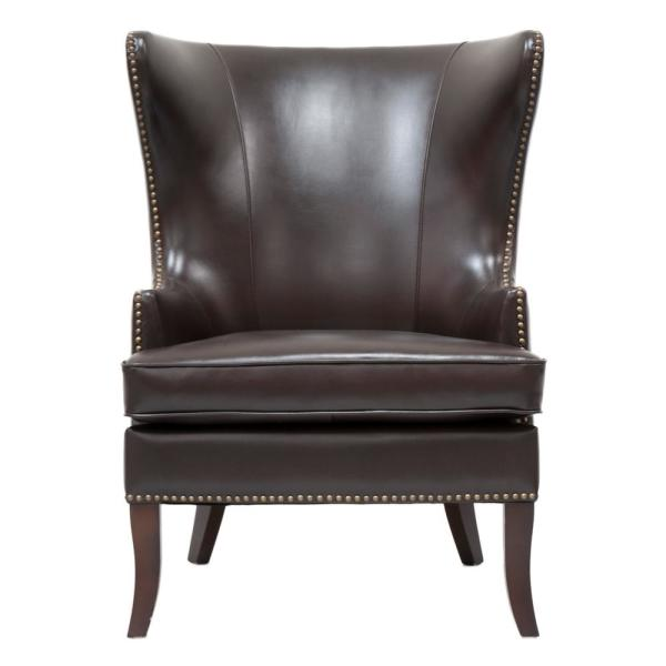 Home Decorators Collection Moore Havana Brown Wing Back Accent Chair 1338800820