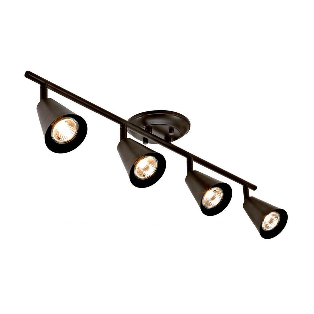 Sian 2.3 ft. 4-Light Oil-Rubbed Bronze Transitional Track Lighting Kit