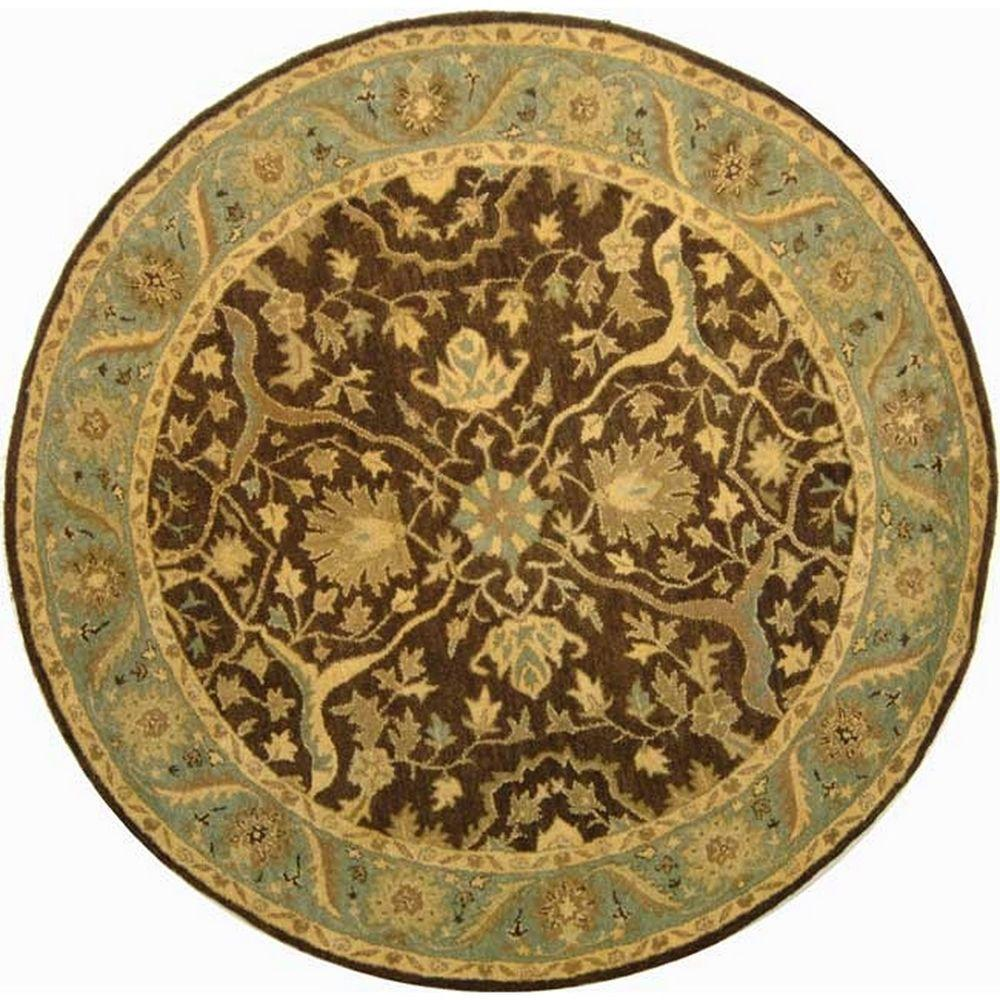 Safavieh Antiquity Brown Green 8 Ft X 8 Ft Round Area