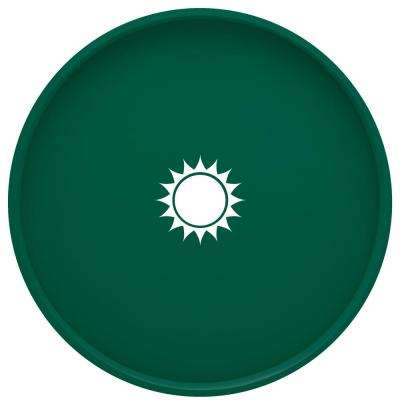 Kasualware Sunshine 14 in. Round Serving Tray in Green