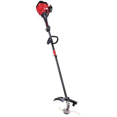 25 cc 2-Cycle Straight Shaft Attachment Capable Gas Trimmer with Fixed-Line Trimmer Head and JumpStart Capabilities
