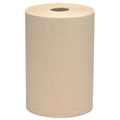 8 x 800 ft. Hard Roll Towels, 2 in. Core in Brown