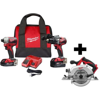 M18 18-Volt Lithium-Ion Brushless Cordless Hammer Drill and Impact Combo Kit with M18 6-1/2 in. Circular Saw