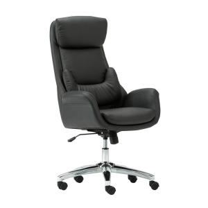 Techni Mobili Black Ergonomic Home Office Executive Chair with Lumbar Support by Techni Mobili