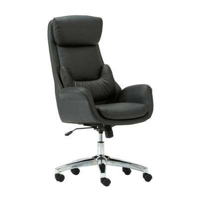 Black Ergonomic Home Office Executive Chair with Lumbar Support