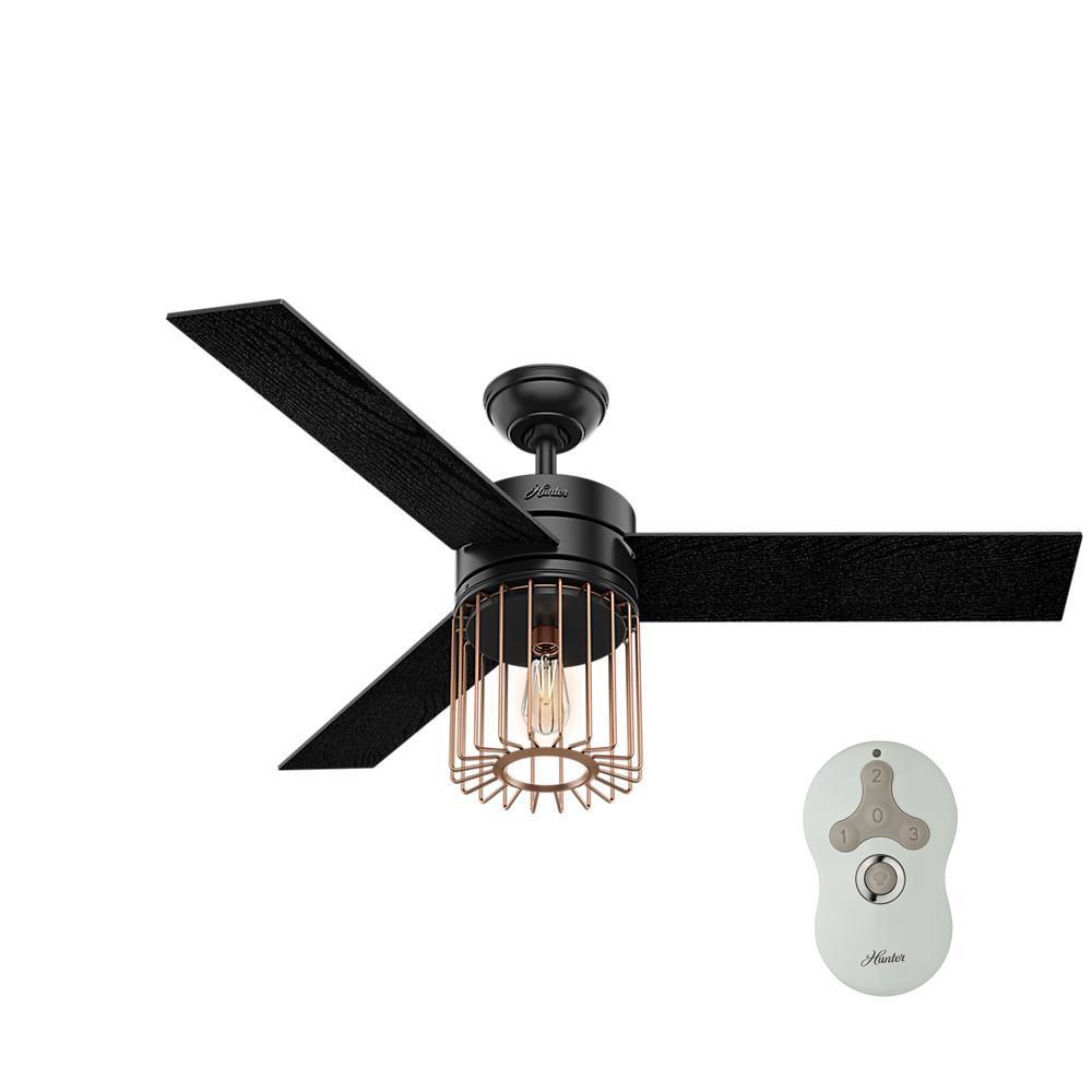 cool black ceiling fans.  Black LED Indoor Matte Black Ceiling Fan With Light Inside Cool Fans