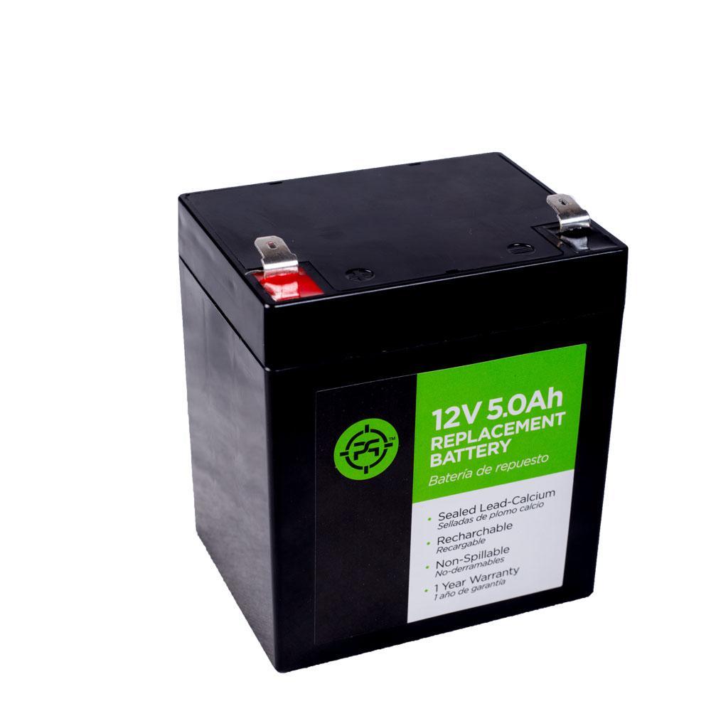 Lead Acid 12-Volt 5.0 Ah Black Replacement Battery