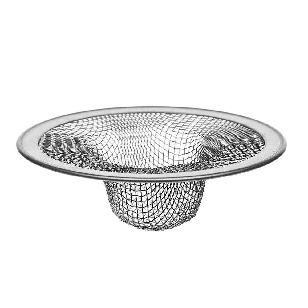 4-1/2 in. OD Kitchen Mesh Sink Strainer in Stainless Steel (2-Pack)