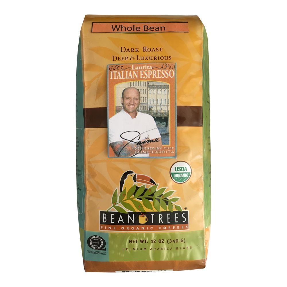 Bean Trees 12 oz. Chef Jaime Italian Espresso Coffee Whole Beans